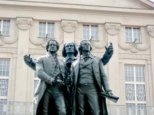 Goethe, Liszt und Schiller in Weimar