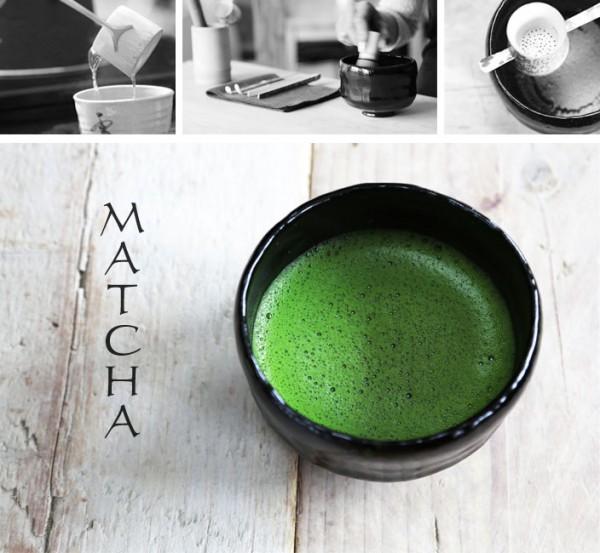 Matcha Tee Klümpchen