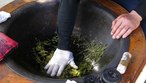 Herstellung Long Jing Tee